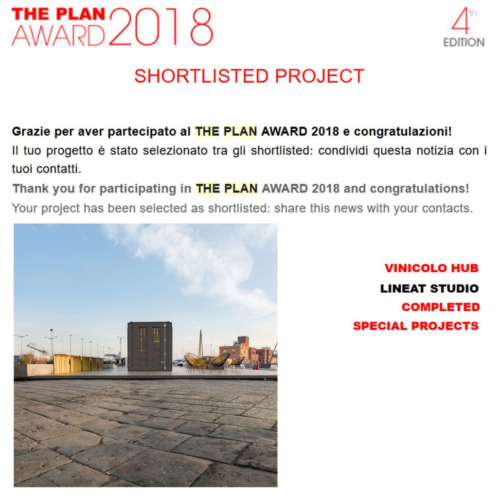 Linea T Studio - The Plan Award 2018 - cat. SPECIAL PROJECTS